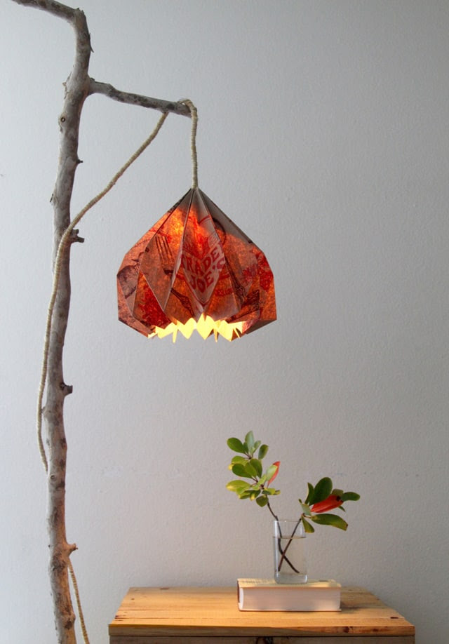 Easy Diy Pendant Light With Beautiful Origami Lampshade A Piece Of