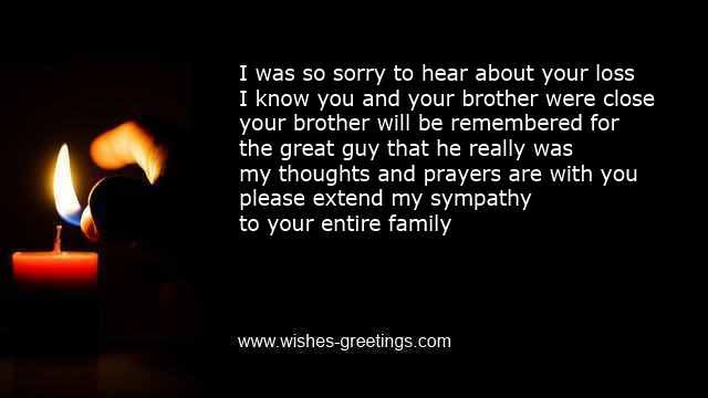Death Of Brother Poems And Condolence Messages For Sympathy Cards