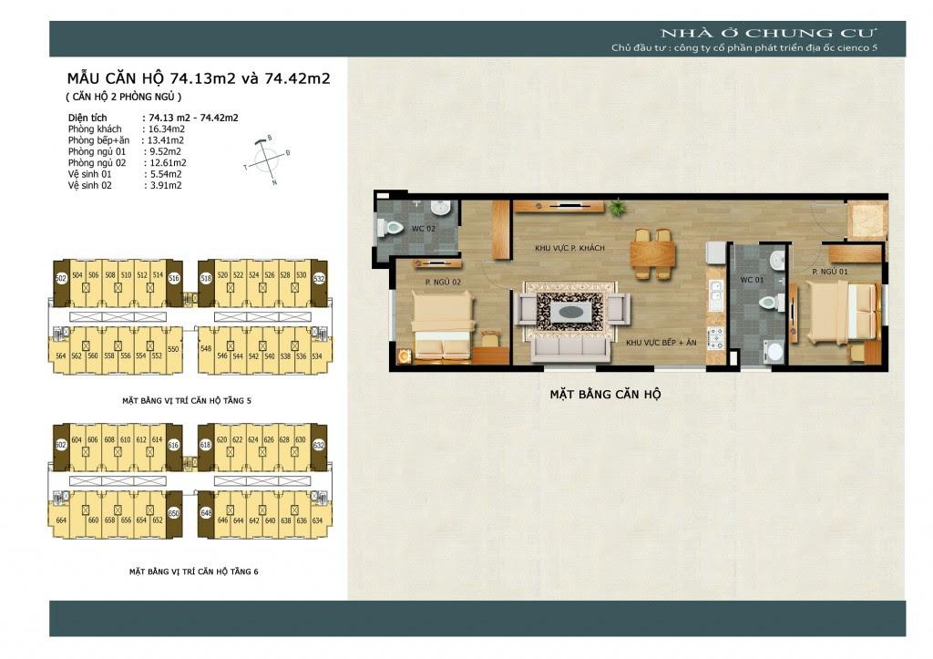 Sơ đồ thiết kế căn hộ Thanh Hà Cienco 5