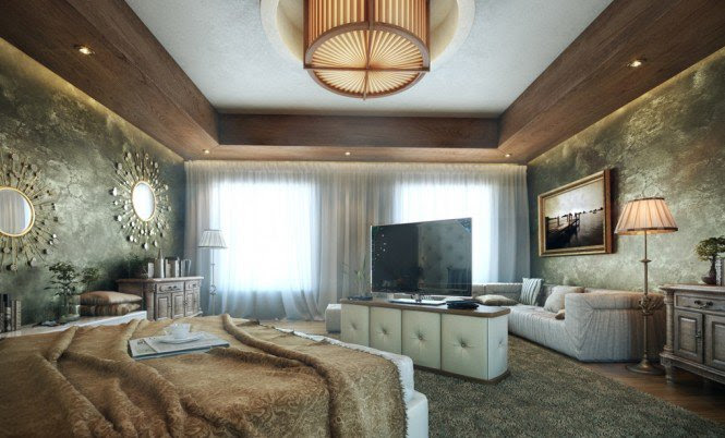 16-Stylish-ceiling-designs-for-master-bedroom-with-flat-screen-TV