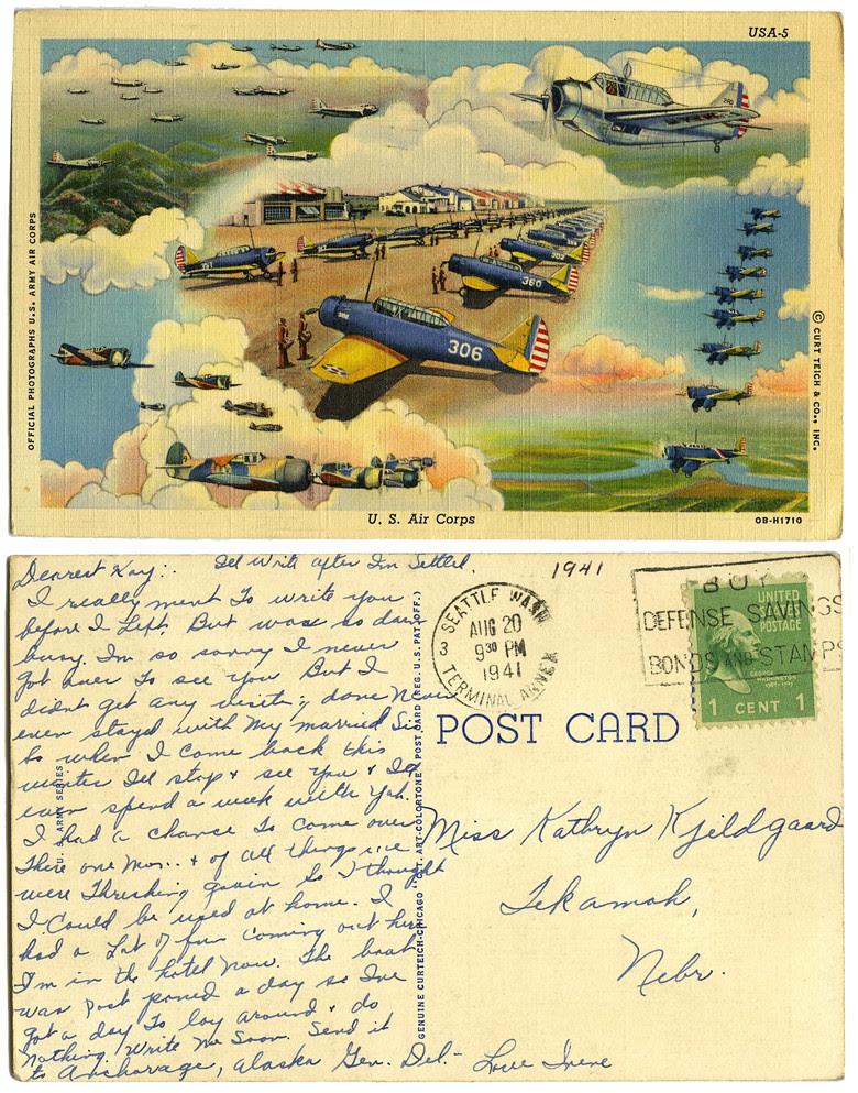 U.S. Air Corps post card_tatteredandlost