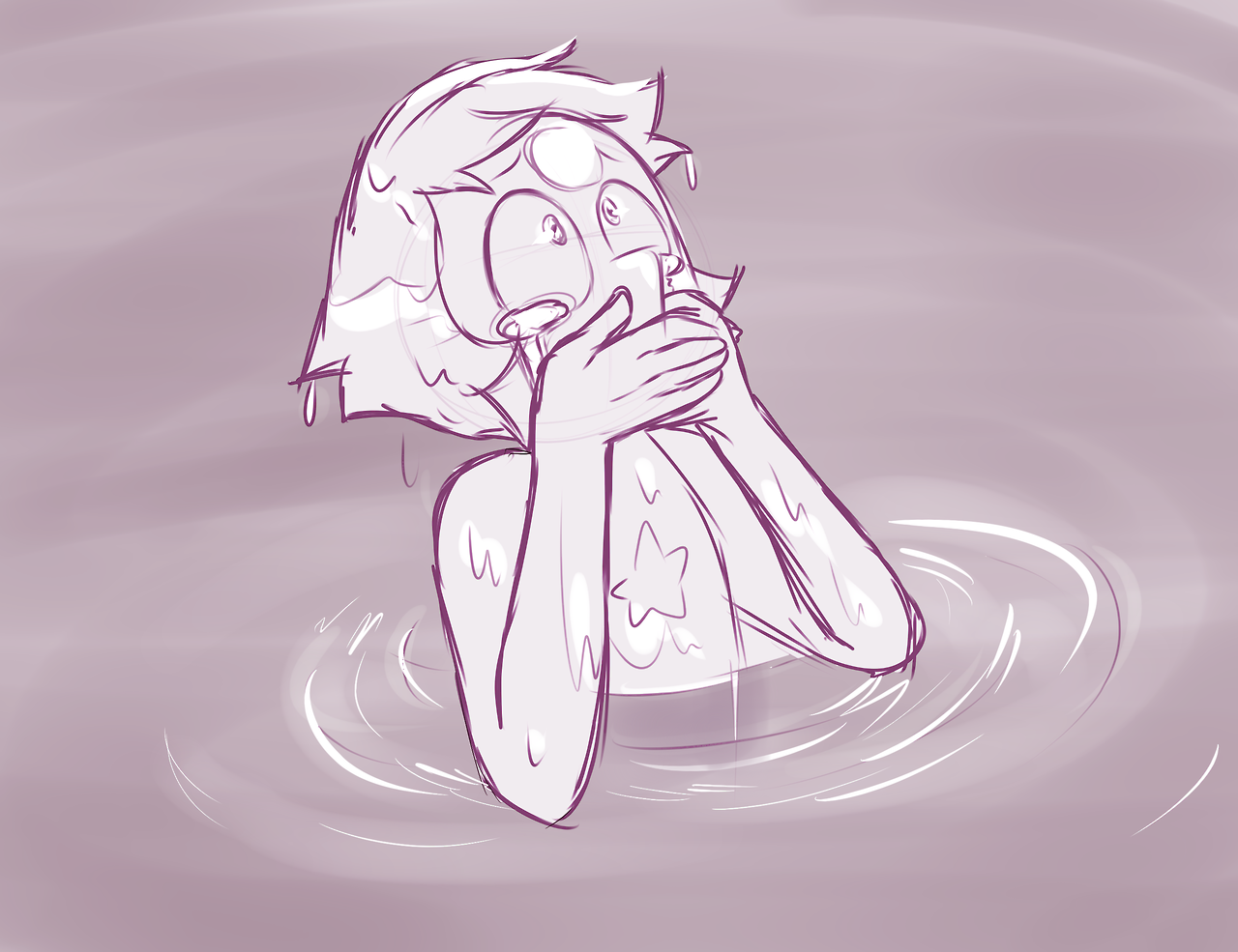 Why pearl is crying???;a; ;-;….don't cry…..;_;