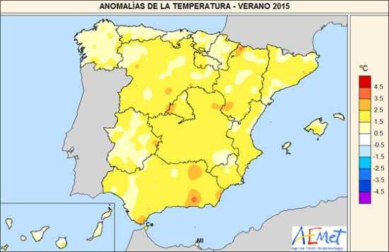 Temperatura verano 2015