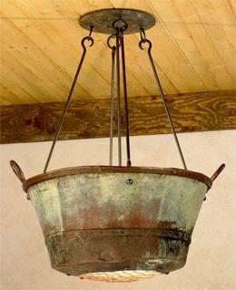 repurpose wash basin light.