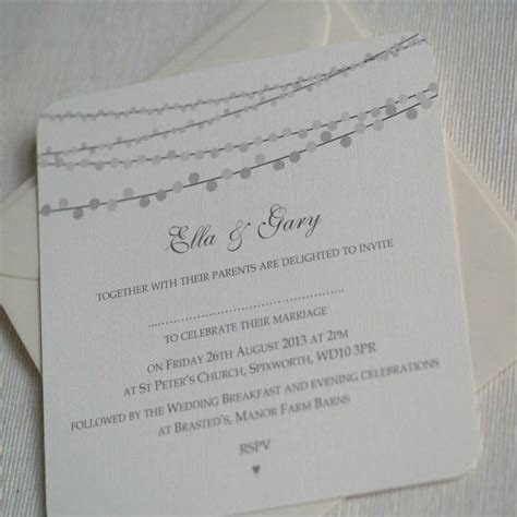 string lights design wedding invitations by beautiful day