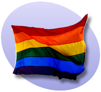 P rainbow flag