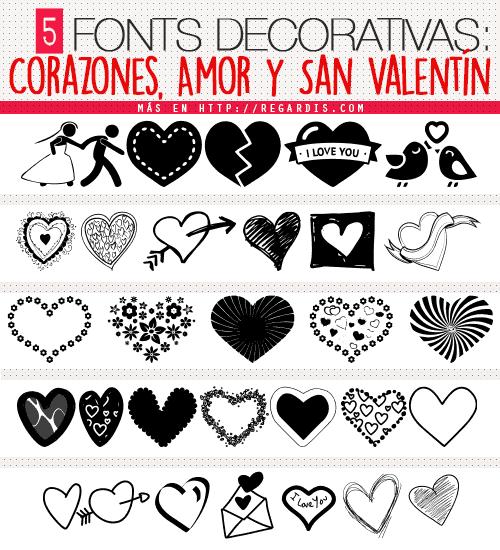 5 Fonts Decorativas De Corazones Amor Y San Valentín Regardis