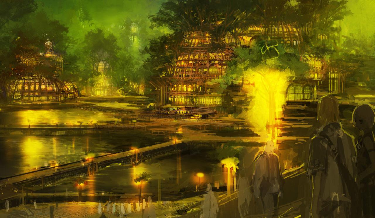 2次元幻想近未来建物美しい風景イラスト集画像 Naver まとめ
