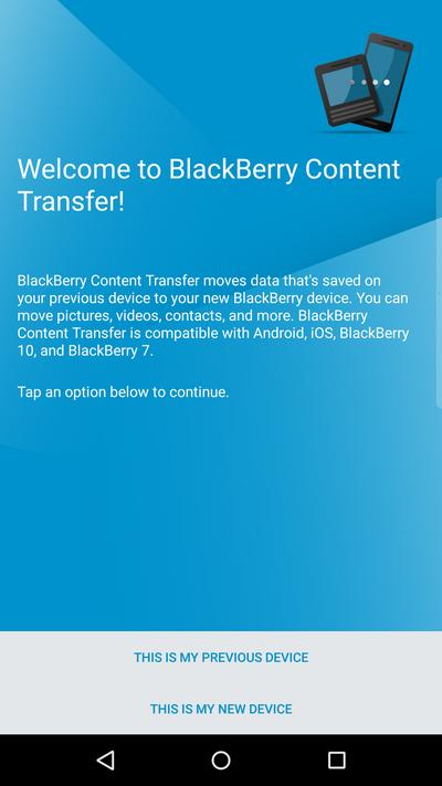BlackBerry Content Transfer