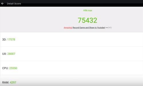 Review H96 Max RK3399 Six Core 4GB RAM 4K Android TV Box AnTUTU Score