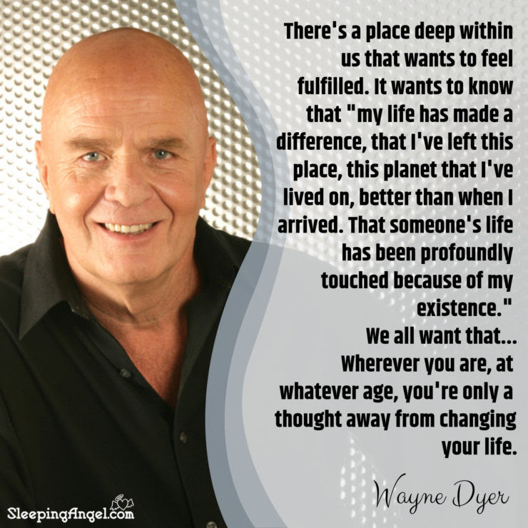 Wayne Dyer Quote Sleeping Angel