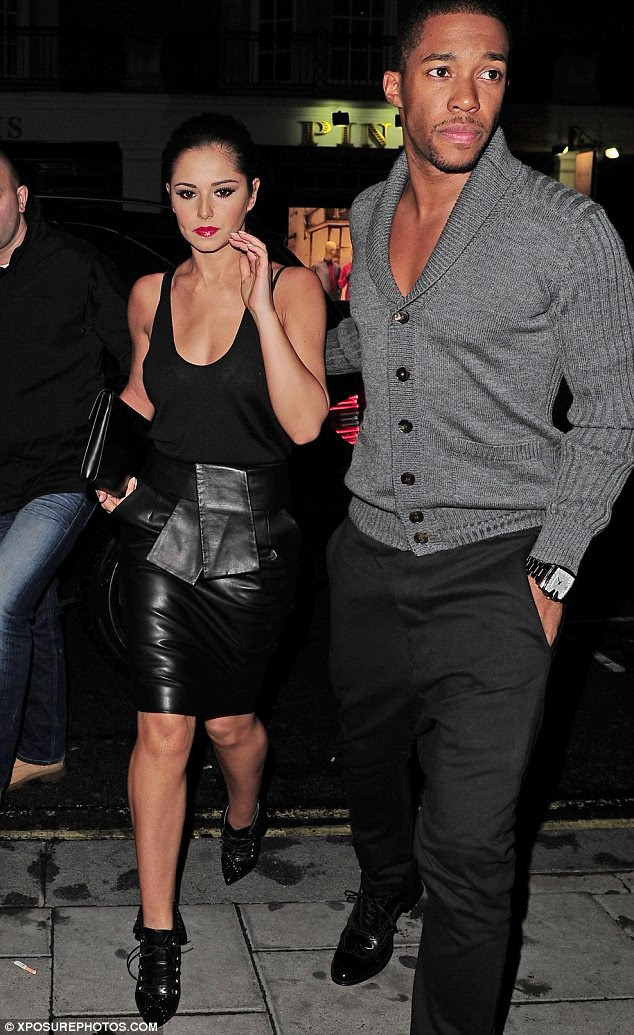 Keeping up their strength: Cheryl Cole and boyfriend Tre Holloway were seen heading out to dinner at C restaurant in London last night