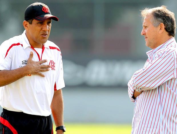 Silas e Zico, treino Flamengo