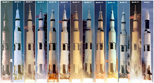 A montage of all Saturn V launches, 1967–1973. by aeroman3