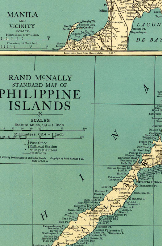 Old Map Of Philippine Islands Philippines 1924 Old Maps