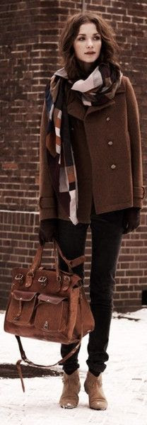 Brown style for winter