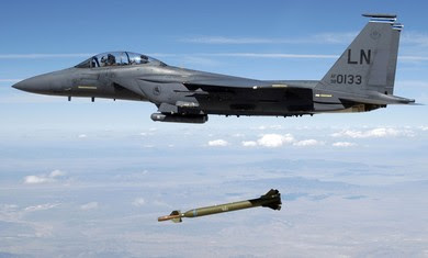 US Air Force F-15E releases a GBU-28 Bunker Buster