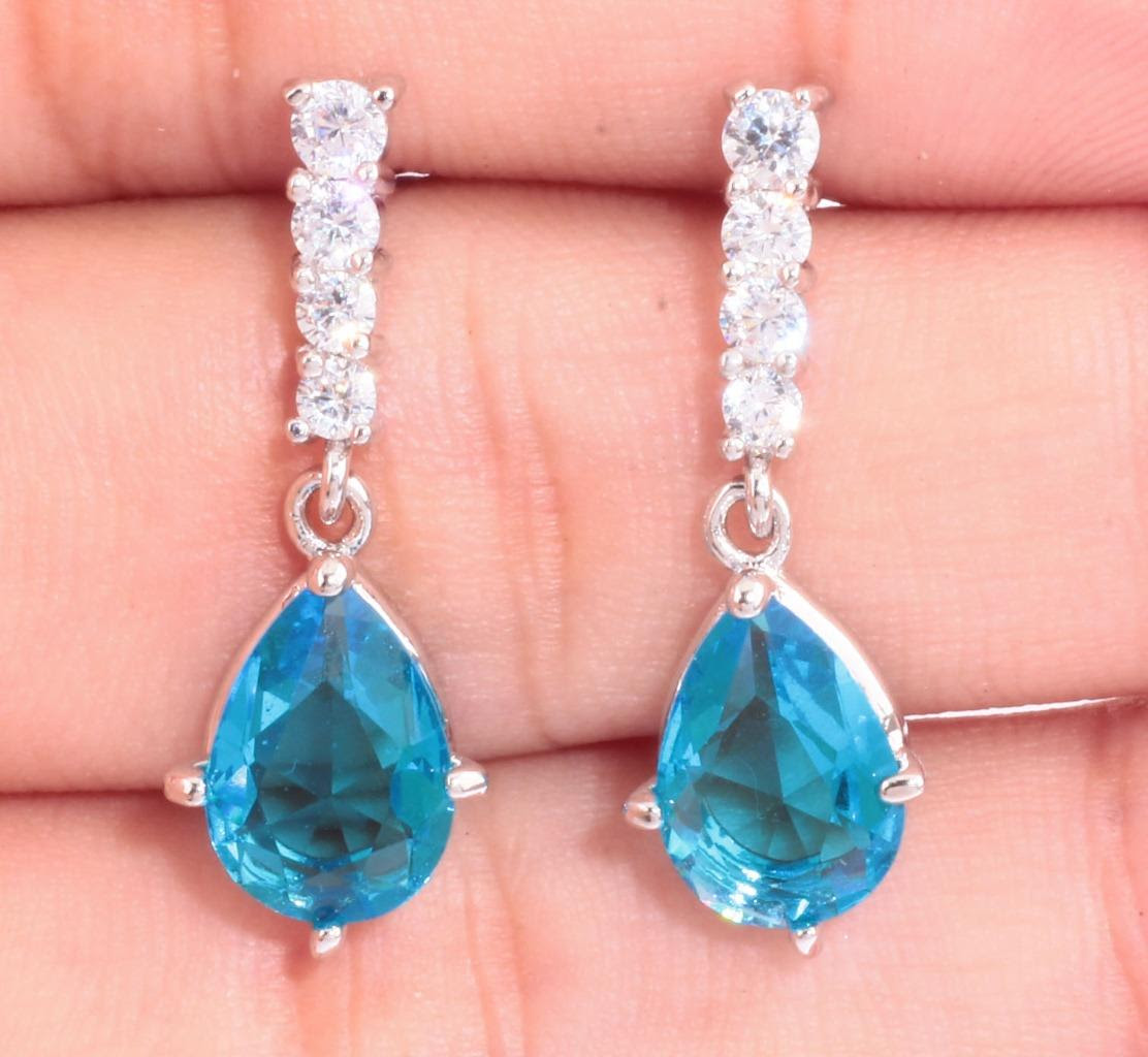 aquamarine & zircon women jewelry gemstone