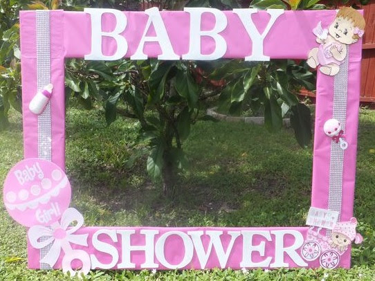 Baby Shower Photo Booth Frame Pink