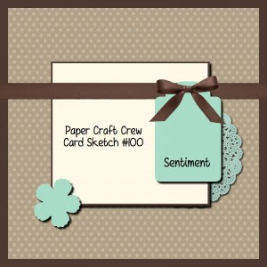 Paper Craft Crew Card Sketch #100