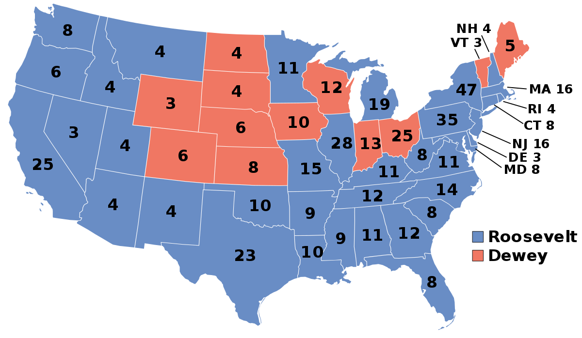 1944 United States Presidential Election Wikipedia