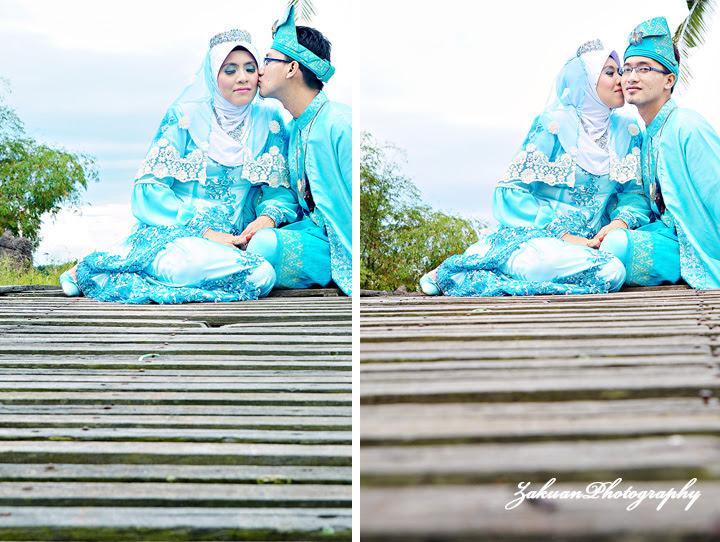 baju pengantin warna biru laut Zakuanhasan Photography