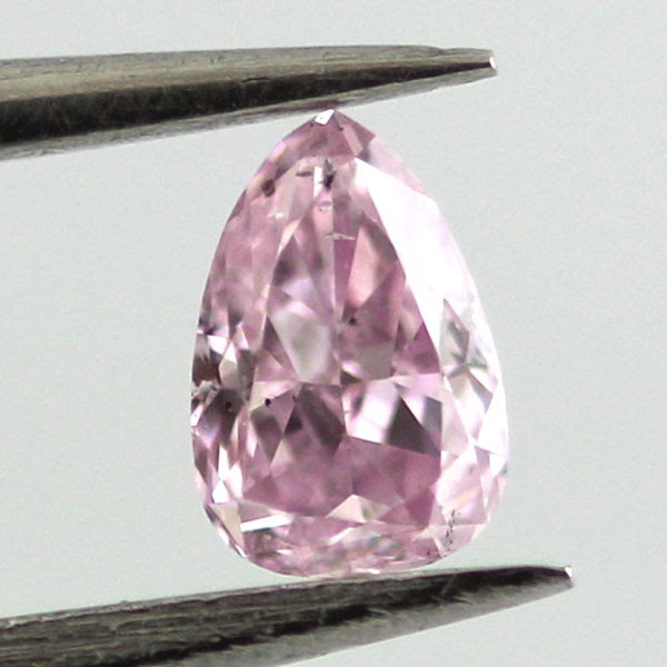 Fancy Intense Pink Purple Diamond, Pear, 0.14 carat