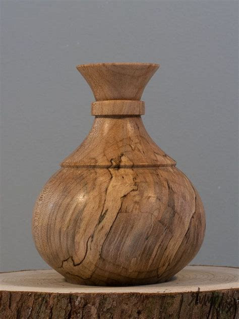 unique wooden vase ideas  pinterest rustic wood