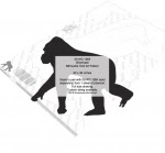 Silverback Silhouette Yard Art Woodworking Pattern - fee plans from WoodworkersWorkshop® Online Store - silverbacks,gorillas,birds,wildlife,animals,African,savannah,yard art,painting wood crafts,scrollsawing patterns,drawings,plywood,plywoodworking plans,woodworkers projects,workshop blueprints