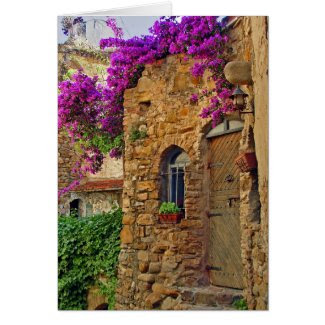 Medieval House in Charming Italy Greeting Cards