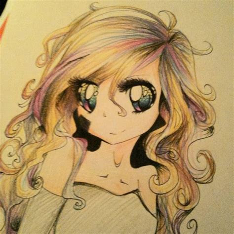 anime girls  curly hair hairstyle  women man