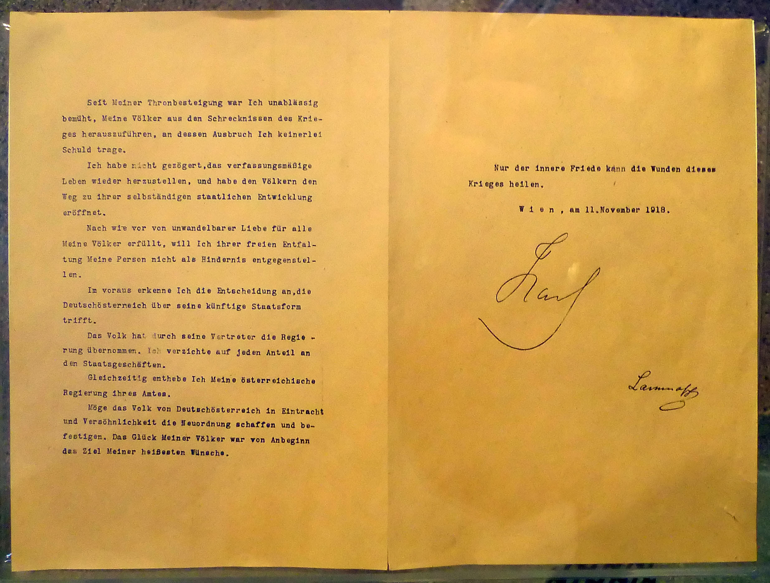 The November 11 declaration