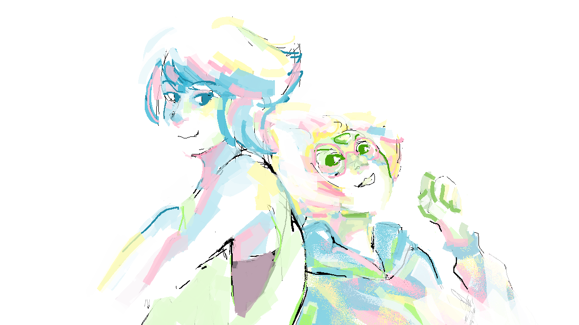 smol mspaint doodl cos i missed drawing them even though i never drew them together lol experimenting w colours again ;w;