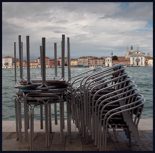 chairs in venice by hans van egdom