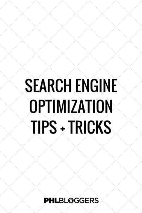 Search Engine Optimization Tips — PHLbloggers