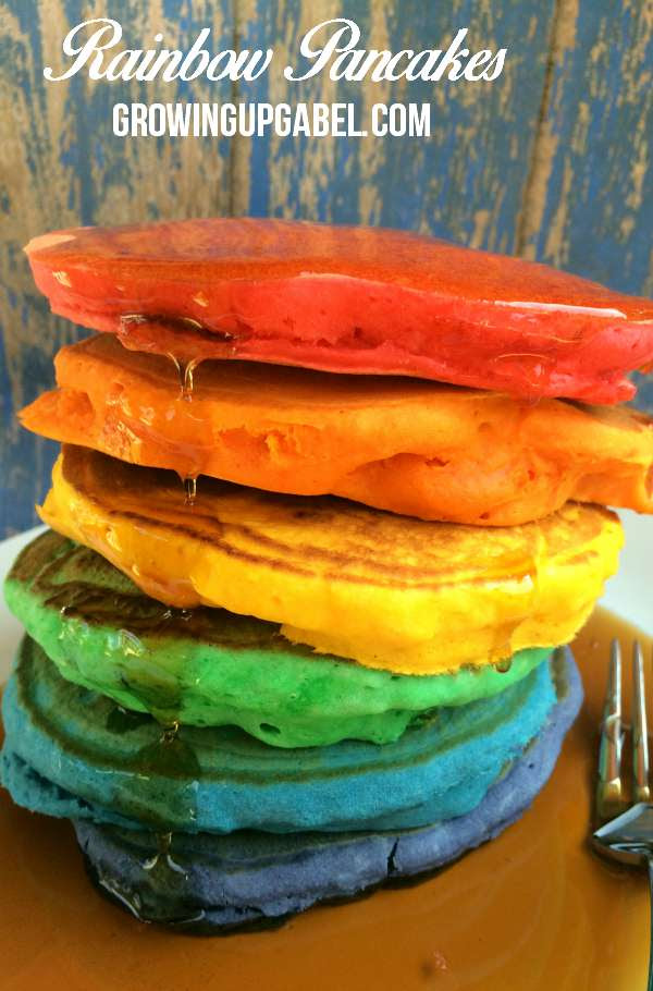 Rainbow Pancakes by Growing Up Gabel