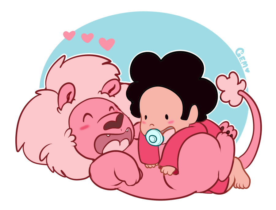 Ive been wanting to draw steven universe fanart for months and months so here is my first doodle of him and lion. Ive made it so that this can be purchased as a redbubble tshirt thing now if anyone...