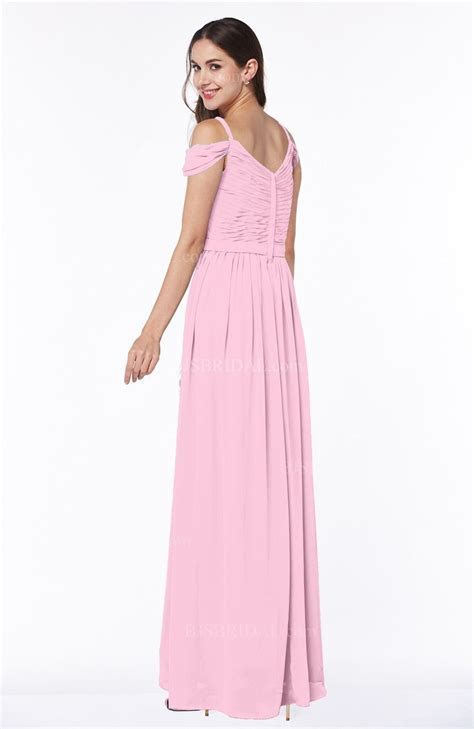 Baby Pink Bridesmaid Dress   Gorgeous A line Off the