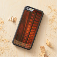 Cool Varnished Wood iPhone 6 Bumper Case Carved Cherry iPhone 6 Bumper Case