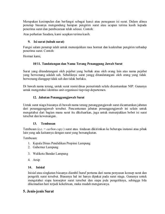 Penutup Surat Resmi Dalam Bahasa Inggris Surasmi L