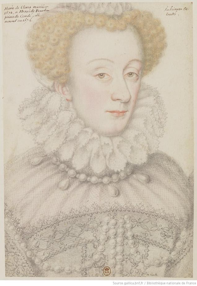 A princesa de Condé / Marie de Clèves, casada em 1572 com Henri de Bourbon, príncipe de Condé, morreu em 1574: [desenho]