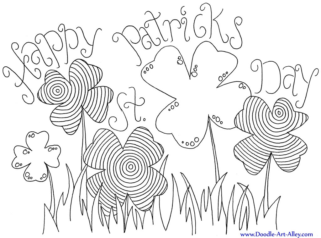 Download 12 St. Patrick's Day Printable Coloring Pages for Adults & Kids