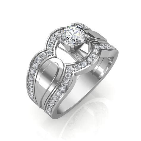 0.85 carat 18K White Gold   Utopia Engagement Ring