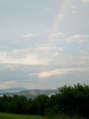 Rainbow in Vermont by Teckelcar