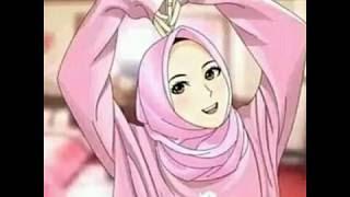 9200 Koleksi Gambar Kartun Muslimah Bercadar Dengan Pasangannya Terbaru