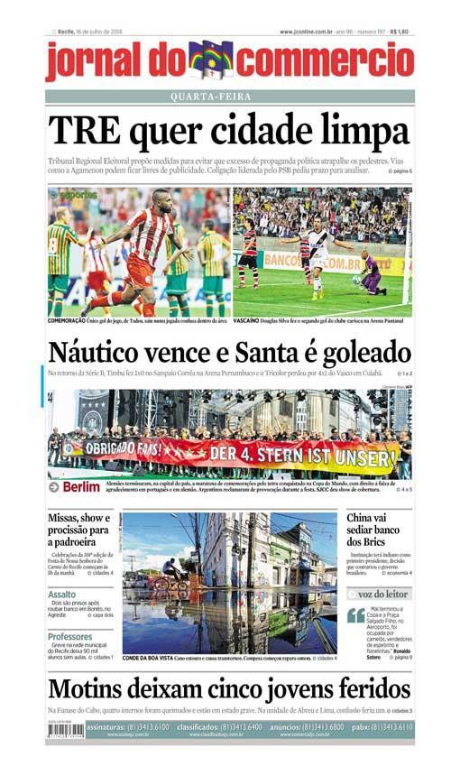 Capa do Jornal - 16/07/2014