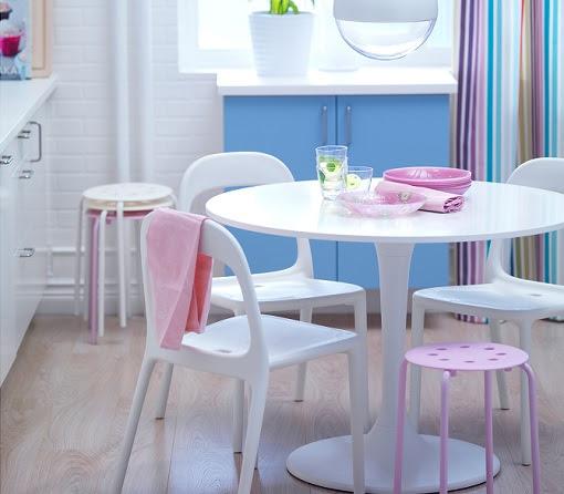 Dormitorio muebles modernos mesa redonda cristal ikea for Sillas para dormitorio ikea