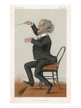 Spy (Leslie M. Ward)  - Richard Wagner the German Musician Conducts