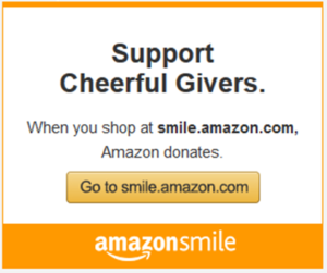 Amazon Smile Every Time You Shop On Amazon Cheerful Givers Gets A Donation Cheerful Givers