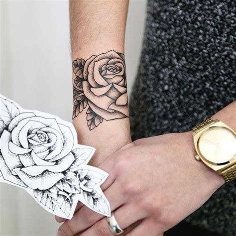 linework rose tattoo wrist rose tattoos wrist